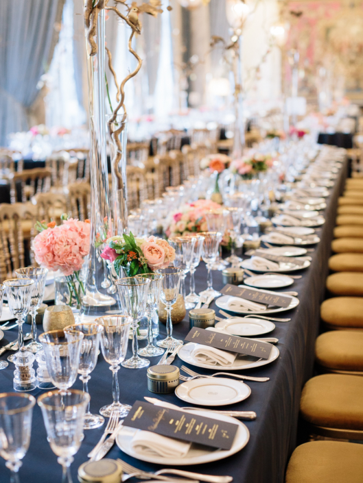 Paris ballroom wedding decor by Fête in France