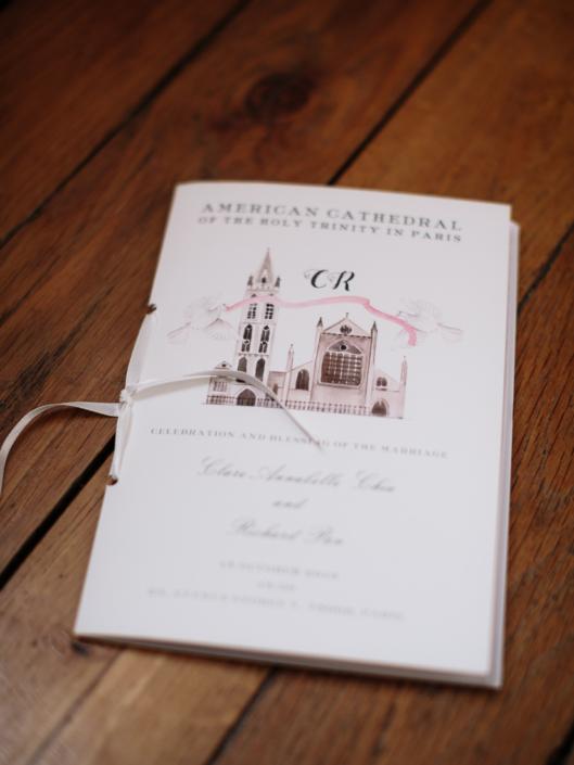 Paris wedding ceremony program