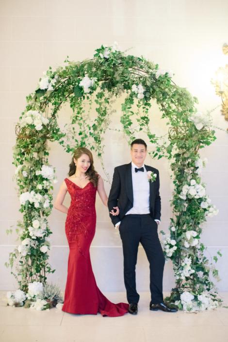 French chateau wedding arch