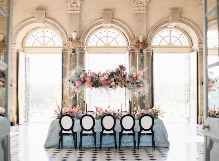 Wedding design by Fête in France for a French château wedding