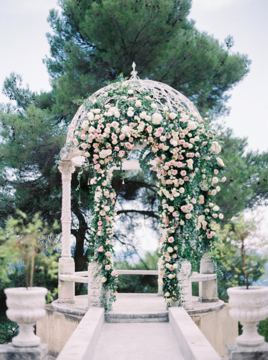 South of France wedding arch