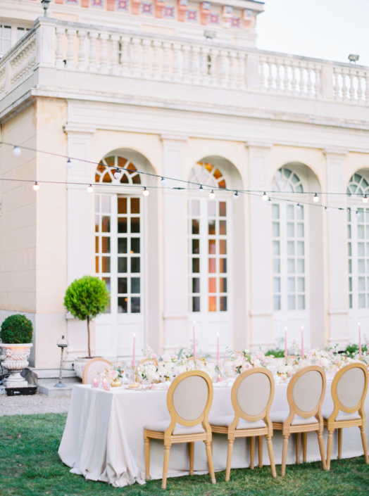 South of France outdoor wedding reception