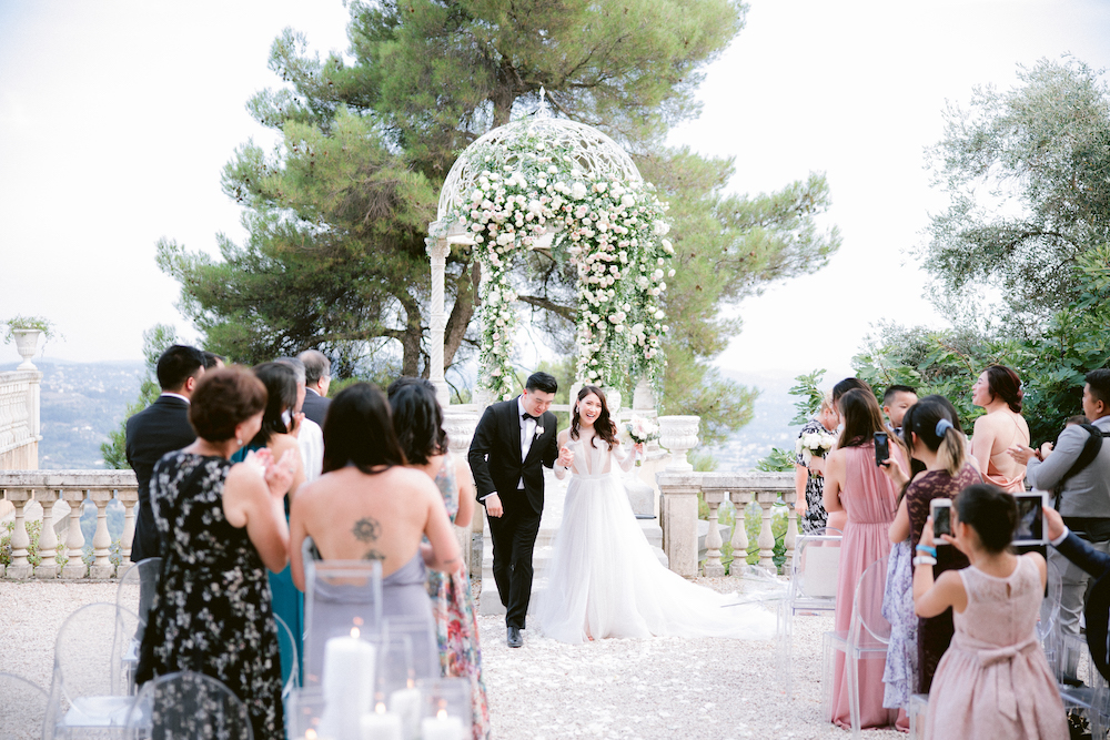 Intimate wedding in the South of France