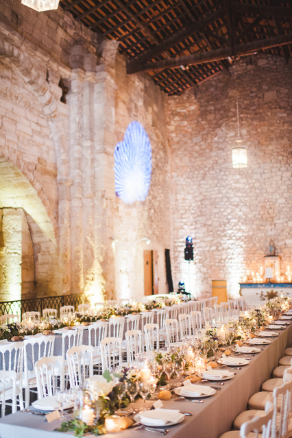 Historic provençal villa wedding reception