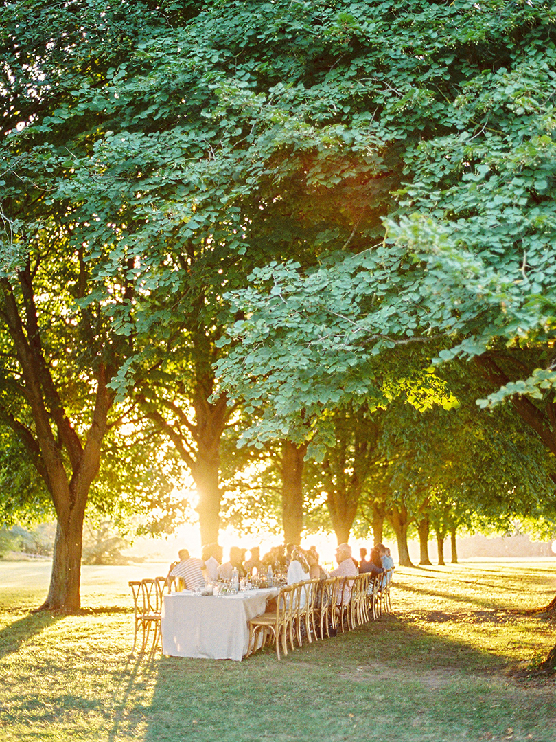 French countryside wedding rehearsal dinner planned by Fête in France
