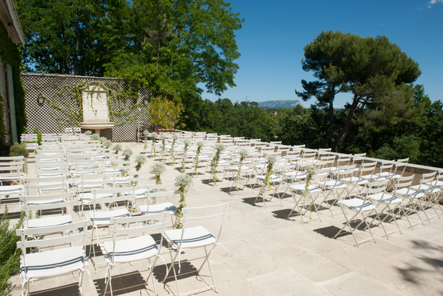 Provence villa wedding ceremony