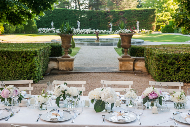Provence villa wedding reception
