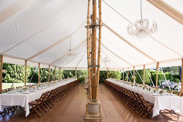 Provence villa tented wedding