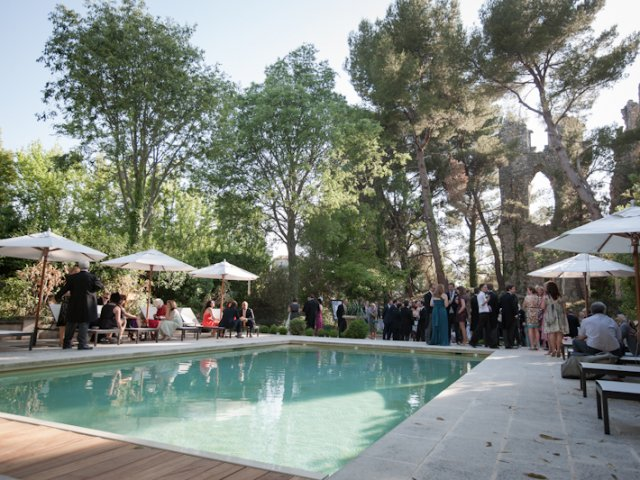 Provence wedding cocktail pool party planned by Fête in France