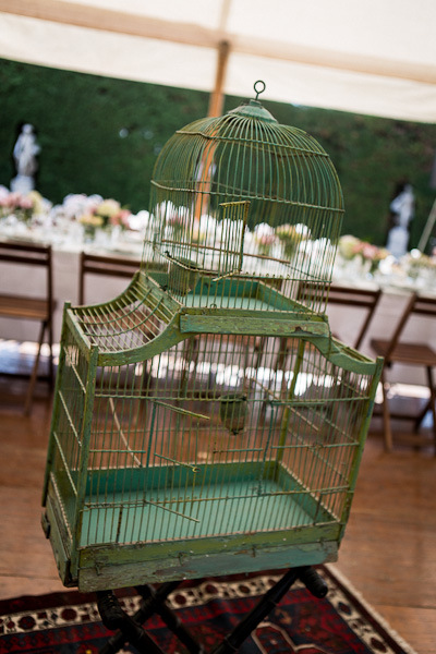 Provence wedding birdcage decoration