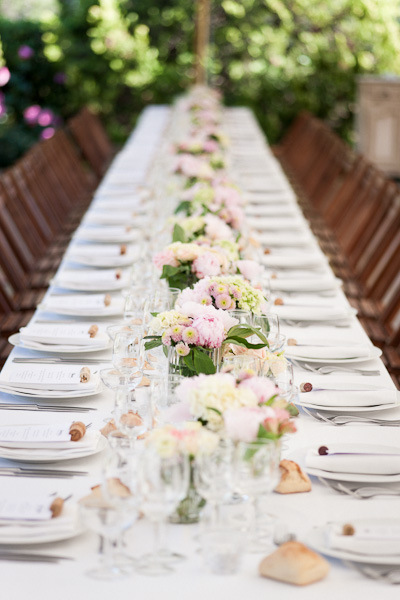 Provence wedding with long tables