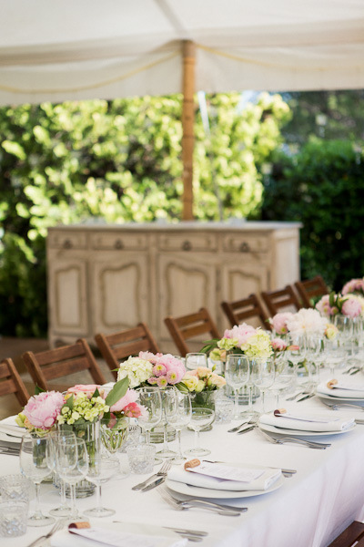 Provence wedding tent with flowers