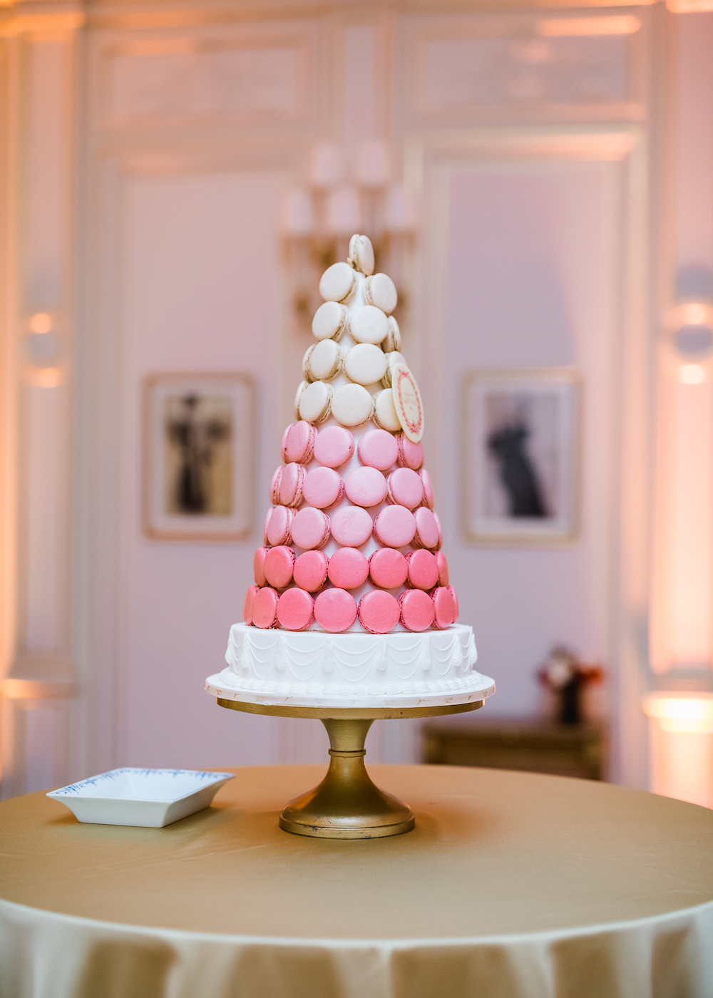 Pink ombre macaron tower by Laduree