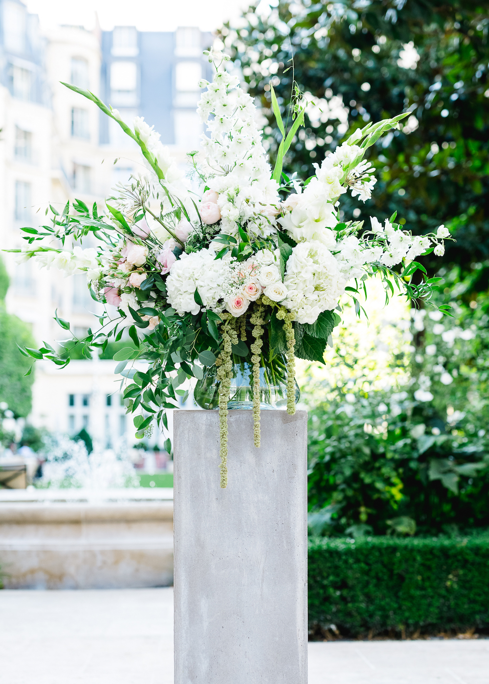 Paris wedding ceremony flowers