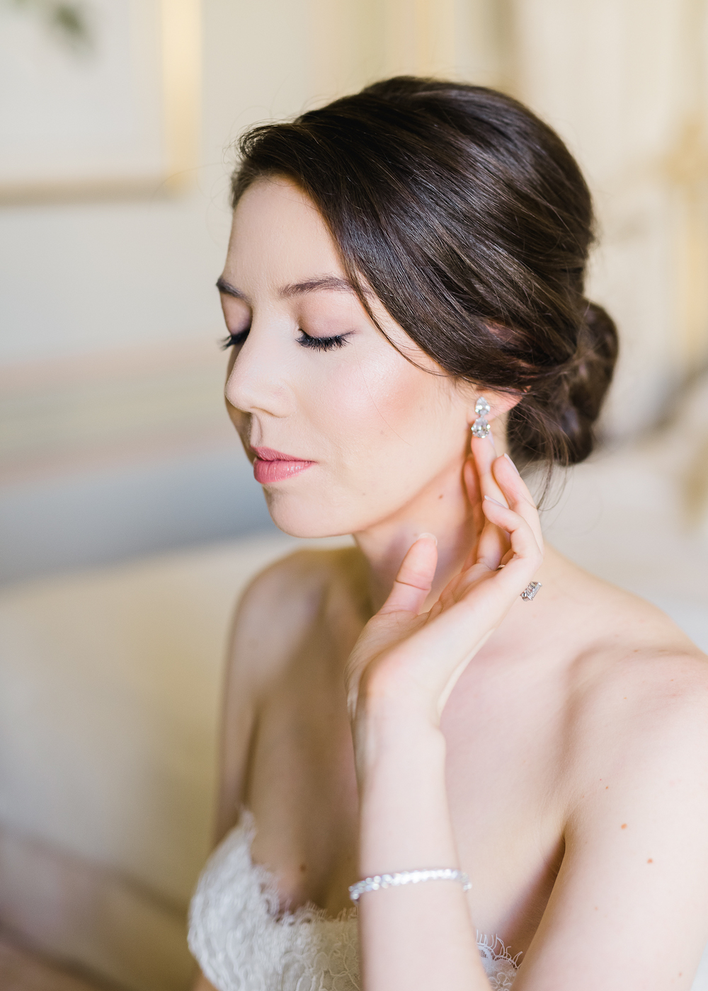 Paris wedding hair and makeup planned by Fête in France
