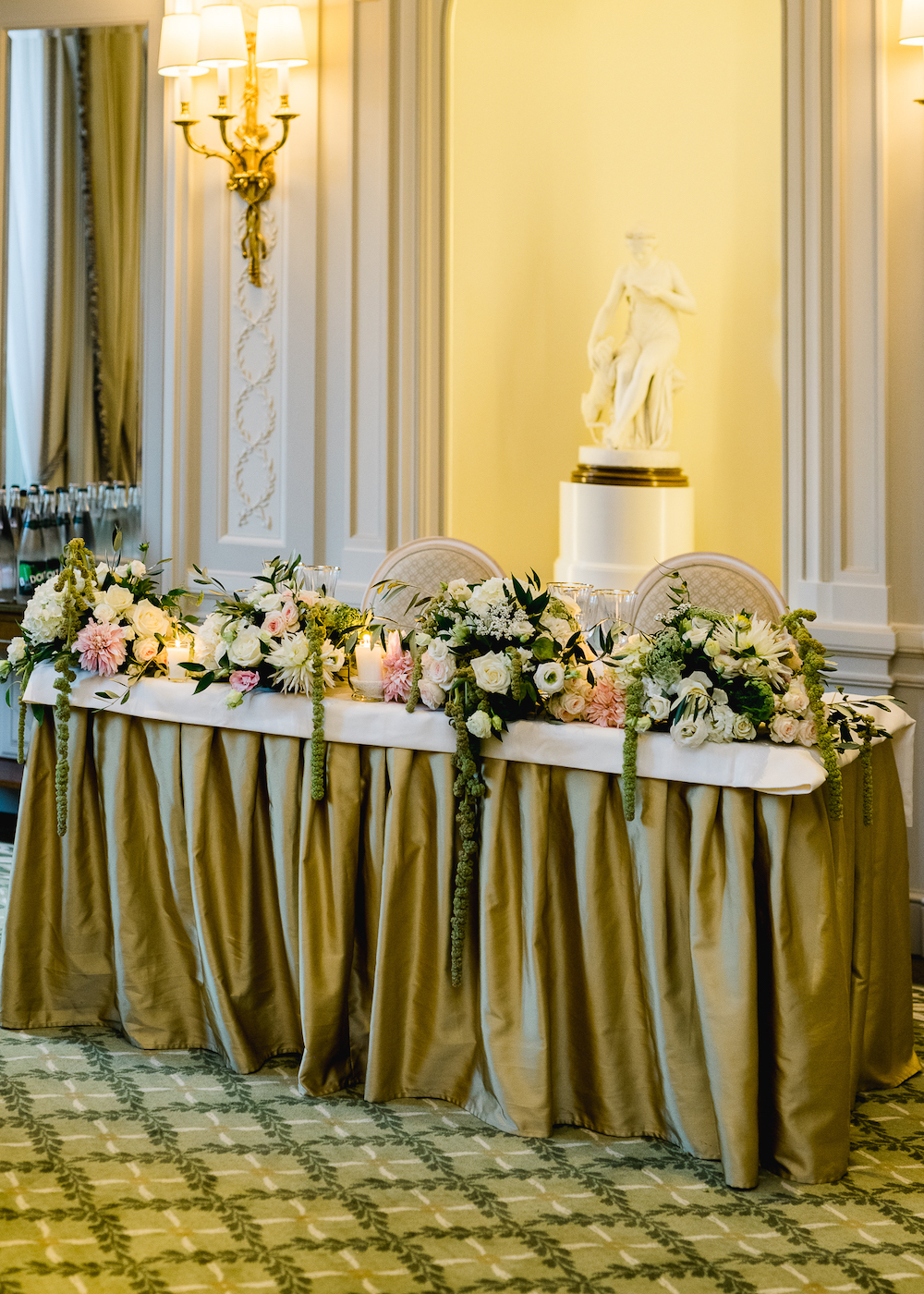 Paris wedding sweetheart table decoration