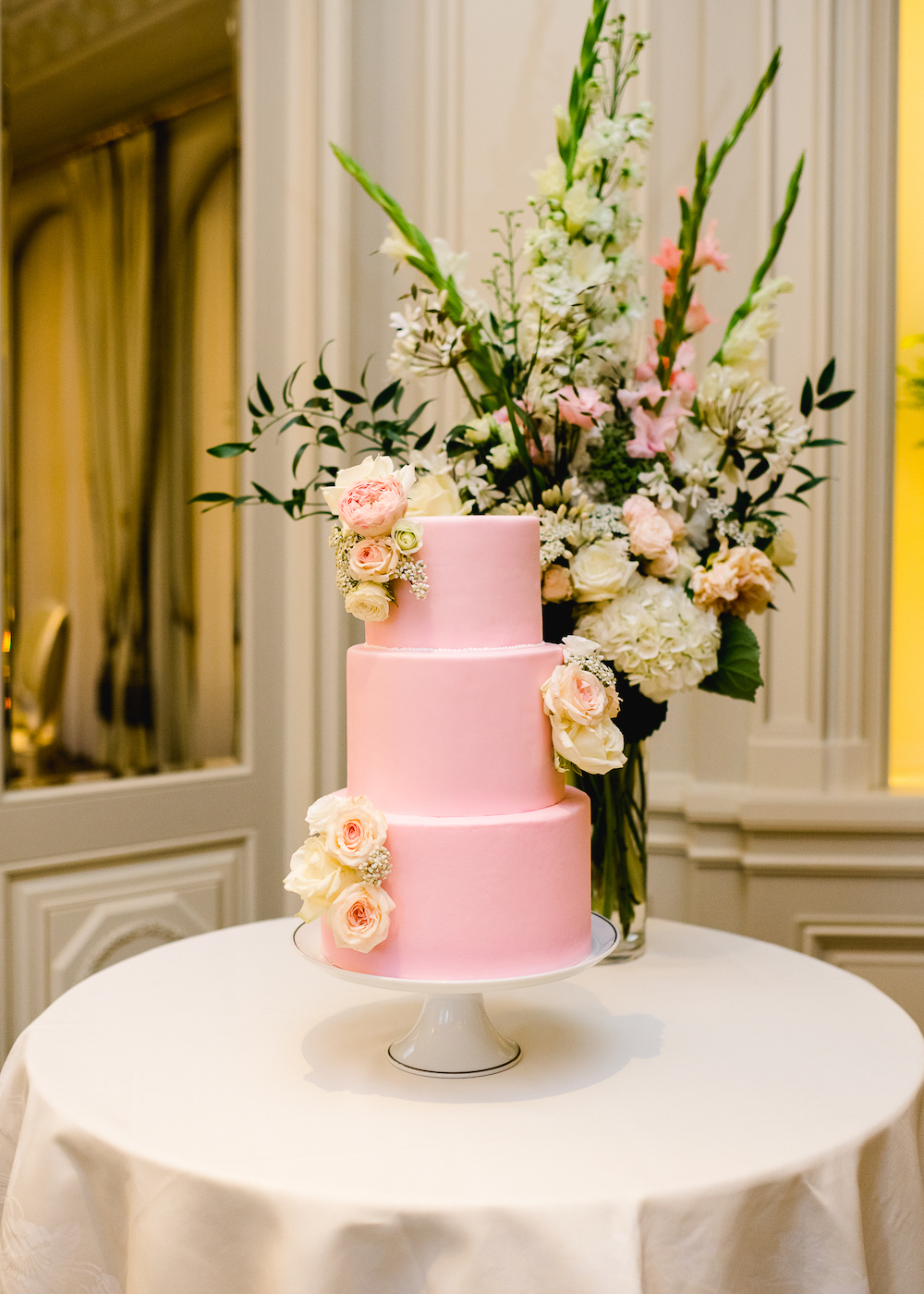 Ritz Paris pink wedding cake